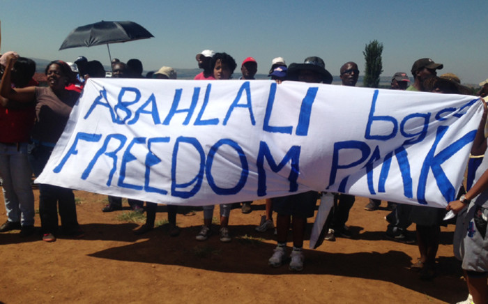 About 400 residents marched to the Eldorado Park Civic Centre to protest against corruption in the housing development in the township on 11 February 2015. Picture: Vumani Mkhize/EWN.
