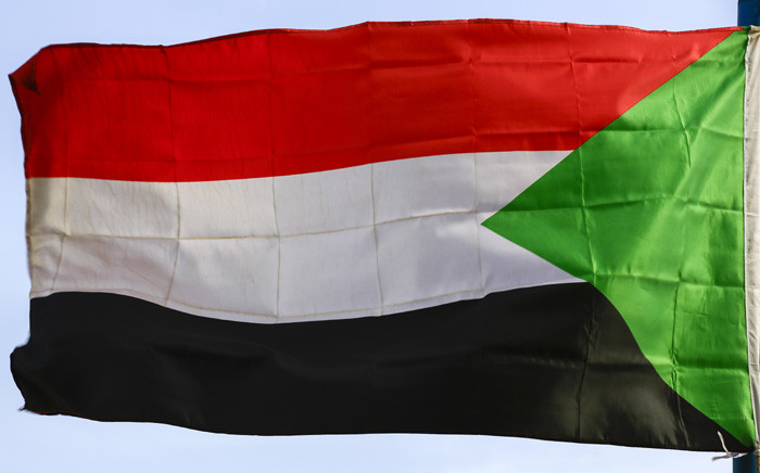 The Sudanese national flag sways in the wind in the capital Khartoum on 27 September 2020. Picture: AFP.