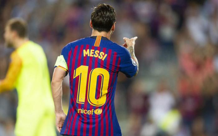 FILE: Barcelona's Lionel Messi celebrates a goal. Picture: @FCBarcelona/Twitter