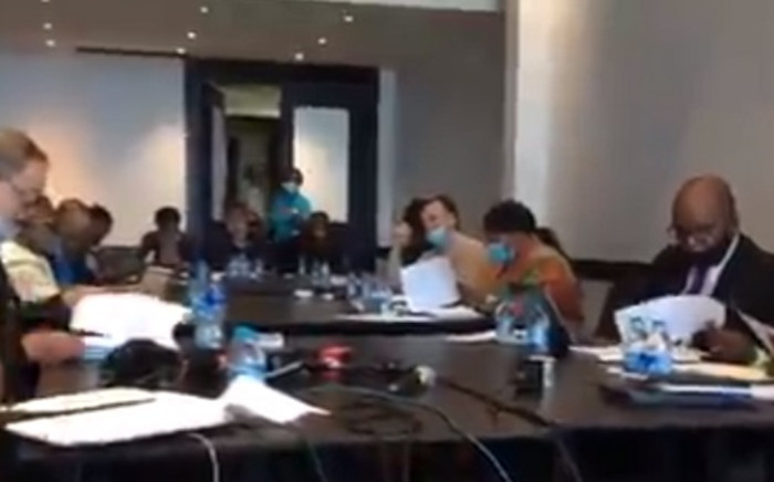 A screenshot of the CRL Commission's hearings into the KwaSizabantu mission on Wednesday, 7 October 2020. Picture: Nkosikhona Duma/EWN