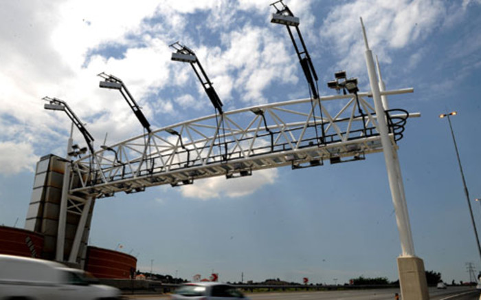 Toll gantry on a Gauteng highway. Picture: SAPA