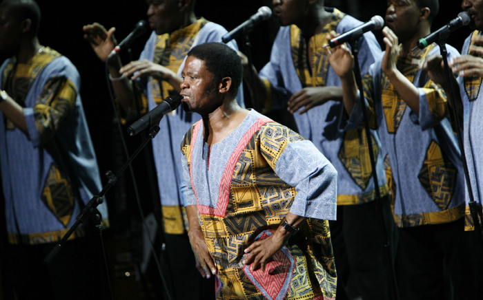 """Ladysmith Black Mambazo performs Paul Simon's """"Under African Skies"""" at BAM on April 9, 2008 in New York City.  Picture: AFP."""