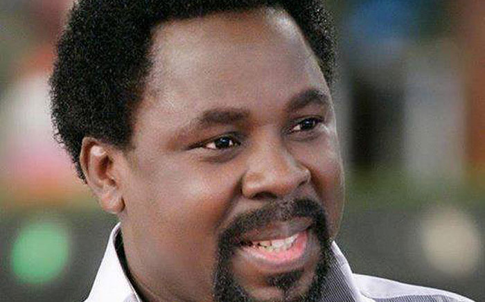 Nigerian preacher and prophet TB Joshua. Picture: Facebook