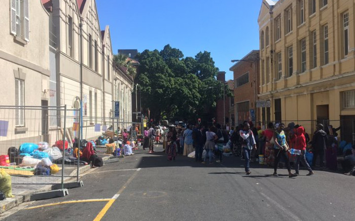 Refugees at the Central Methodist Mission Church in Cape Town. Picture: Jarita Kaasen/EWN.