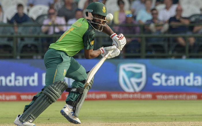 FILE: South Africa's Temba Bavuma watches the ball after playing a shot during the first one day international (ODI) cricket match between South Africa and England at The Newlands Cricket Stadium in Cape Town on 4 February 2020. Picture: AFP