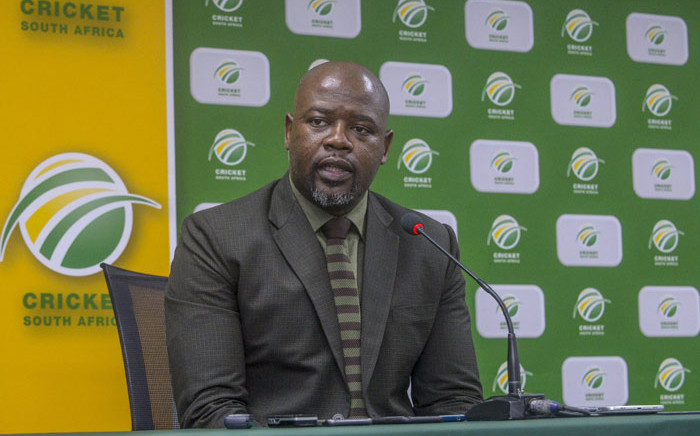 FILE: Cricket South Africa CEO Thabang Moroe. Picture: @OfficialCSA/Twitter.