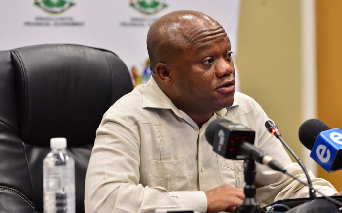 KZN Premier Sihle Zikalala at a media briefing on 24 May 2020 on the province's response to the COVID-19 pandemic. Picture: @kzngov/Twitter.