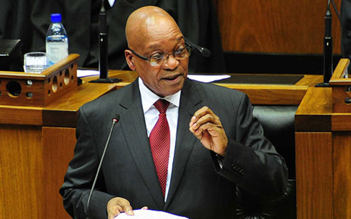 President Jacob Zuma addresses Parliament during the 2014 State of the Nation Address. Picture: GCIS.
