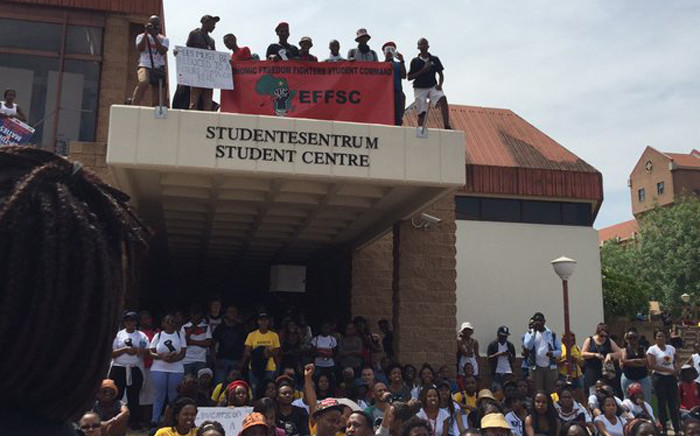 The University of Pretoria students came out in full force as they protest fee hike at the university on 21 October 2015. Picture: Govan Whittles/EWN.