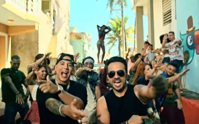 A screengrab from the video for 'Despacito'.