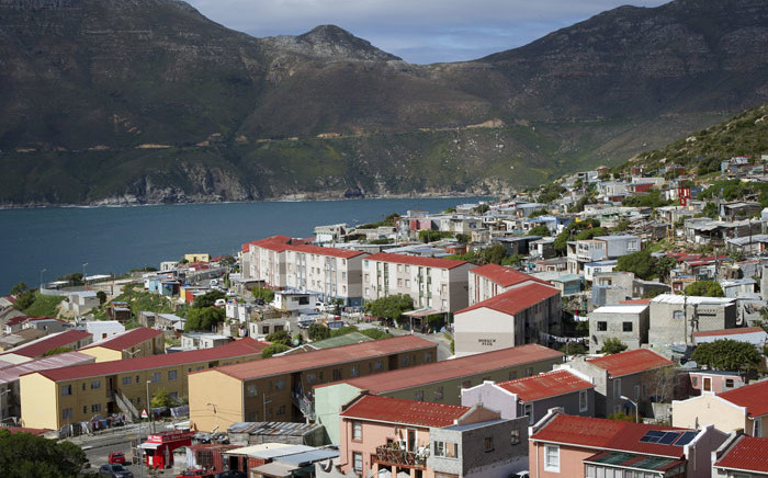 A file image of Hangberg in Hout Bay, near Cape Town. Picture: AFP
