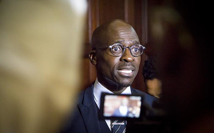 Newly appointed Finance Minister Malusi Gigaba was swarmed by the media shortly after the swearing in ceremony of President Jacob Zuma's new cabinet in Pretoria on 31 March 2017. Picture: EWN