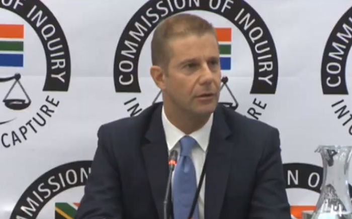 A screengrab of former Glencore CEO Clinton Ephron as he testifies at the Zondo commission of Inquiry into state capture in Pretoria on 27 February. Picture: YouTube.