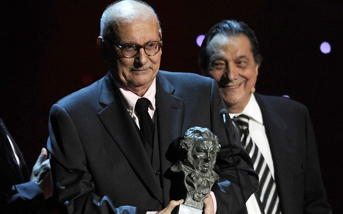 FILE: In this file photo taken on February 14, 2011 Spanish film director Mario Camus receives the Honor award during the Goya Film Awards ceremony at Teatro Real in Madrid. Picture: Javier Soriano / AFP.