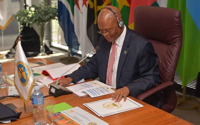 Chief Justice Mogoeng Mogoeng at the 10th Executive Bureau Meeting of the Conference of Constitutional Jurisdictions of Africa at Midrand, Johannesburg, on 30 January 2019. Picture:  @OCJ_RSA/Twitter