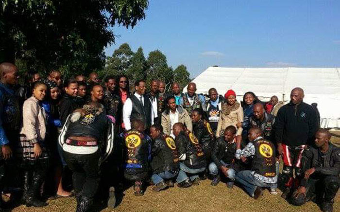 FILE: Members of the Ibutho Motorcycle Club with the late King Goodwill Zwelithini. Picture: Supplied