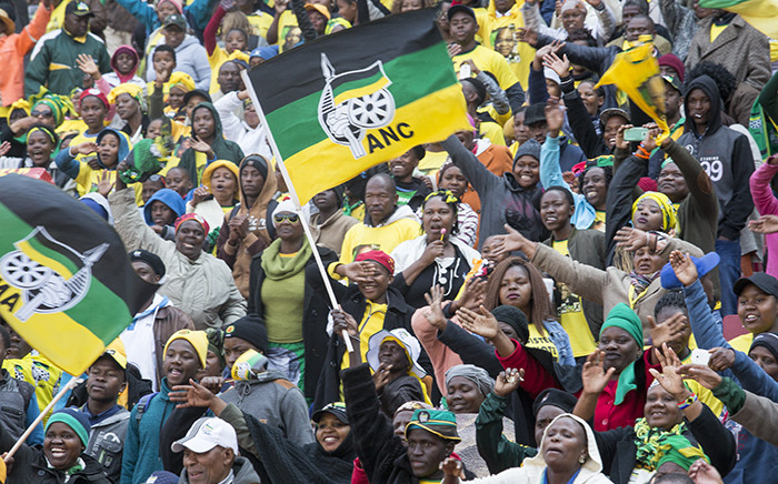 Thousands of ANC supporters filled the Emirates Airline Park in Johannesburg on 31 July for the party's final rally ahead of the upcoming local government elections. Picture: Reinart Toerien
