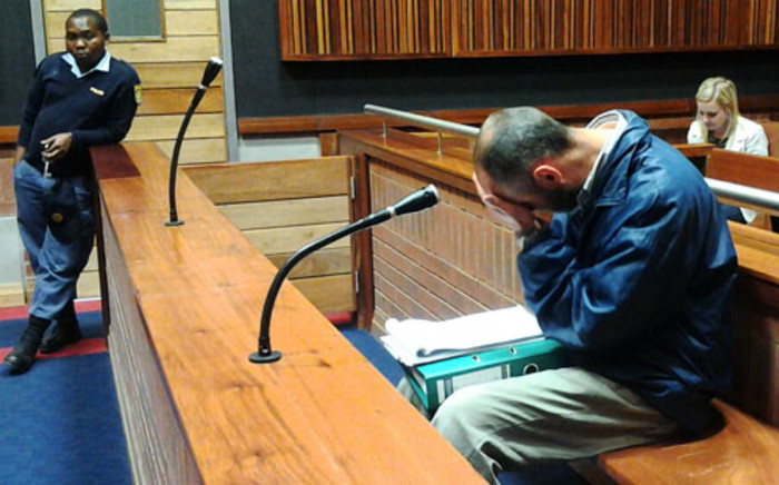 """Johannes Steyn, dubbed the """"Sunday rapist"""", cried as his ex-wife took the stand in his trial on Johannesburg's East Rand on Monday. Picture: Sapa."""