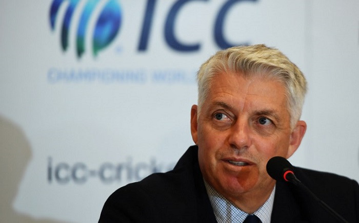 International Cricket Council chief executive Dave Richardson gestures as he addresses a press conference in Kolkata on 26 April 2018. Picture: AFP