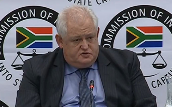 FILE: A screengrab of former Bosasa executive Angelo Agrizzi giving testimony at the commission of inquiry into state capture on 21 January 2019.