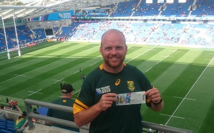 Ron Rutland has spent two years cycling across Africa and Europe to see South Africa play in the World Cup in the UK. Picture: @RonRutland.