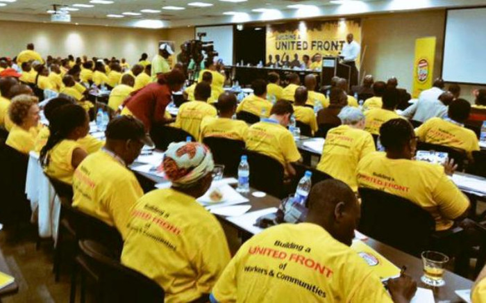 Delegates attend the Numsa people's assembly on 13 December 2014. Picture: Emily Corke/Numsa.