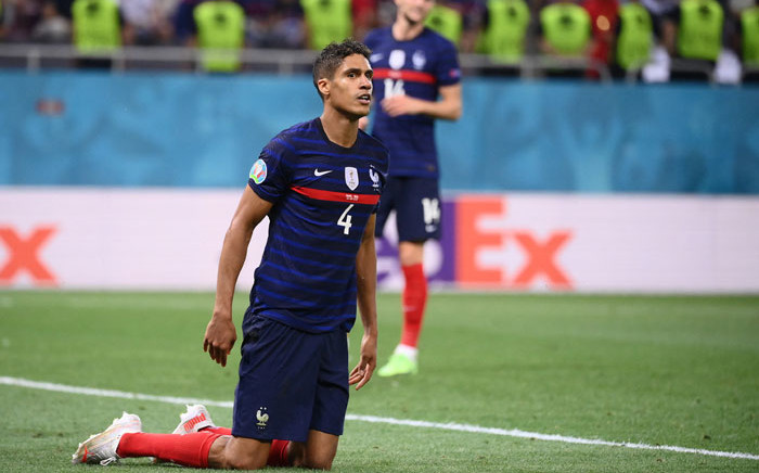 FILE: France's defender Raphael Varane gets back on his feet during the UEFA EURO 2020 round of 16 football match between France and Switzerland at the National Arena in Bucharest on 28 June 2021. Picture: FRANCK FIFE/AFP