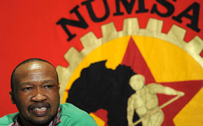 FILE:Numsa general secretary Irvin Jim speaks to reporters after a meeting of the trade union's central committee in Johannesburg on 18 August, 2011. Picture: Werner Beukes/SAPA