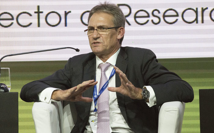 Chris Griffith, CEO of Anglo American Platinum, speaks a discussion on platinum, during the second day of the Mining Indaba, on 5 February 2019, in Cape Town. Picture: AFP