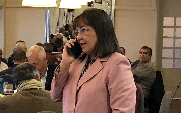 Patricia de Lille maintains she's the mayor of Cape Town after the Democratic Alliance terminated her membership, on Tuesday 8 May, 2018. Picture: Kevin Brandt/EWN