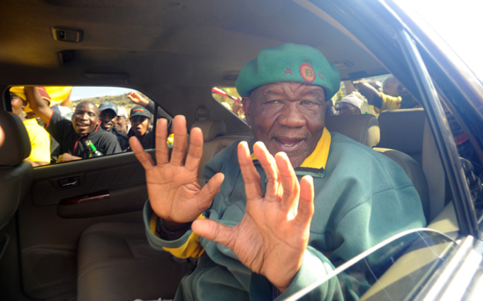 FILE: Thomas Thabane, leader of All Basotho Convention (ABC), greets supporters in Maseru on 27 May, 2012 a day after the people of Lesotho went to the polls in National Assembly Elections. Picture: AFP.