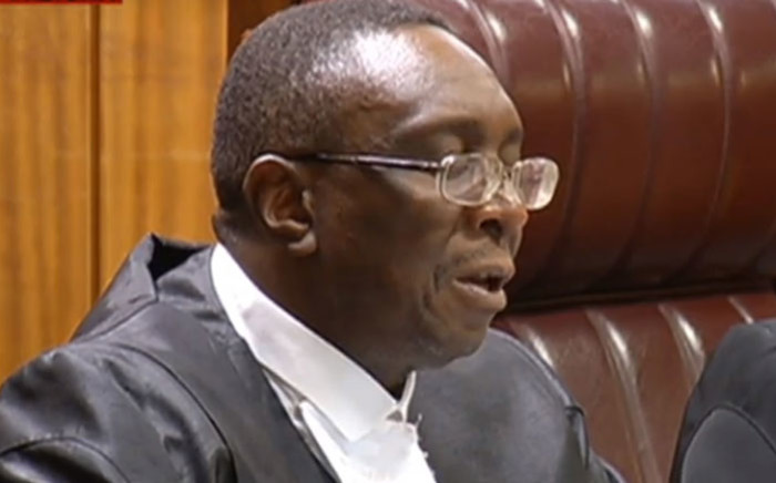 A screengrab of the Pretoria High Court ruling on a review of the findings of arms deal inquiry on 21 August 2019.