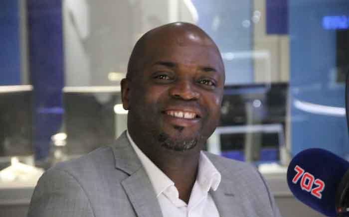 City of Tshwane Mayor Solly Msimanga during an interview with Talk Radio 702 presenter Eusebius McKaiser. Picture: Talk Radio 702