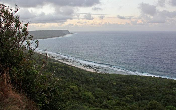 FILE: A general view out to the Pacific Ocean from Andersen Air Force Base in Guam, on 8 February 2018. Picture: AFP.