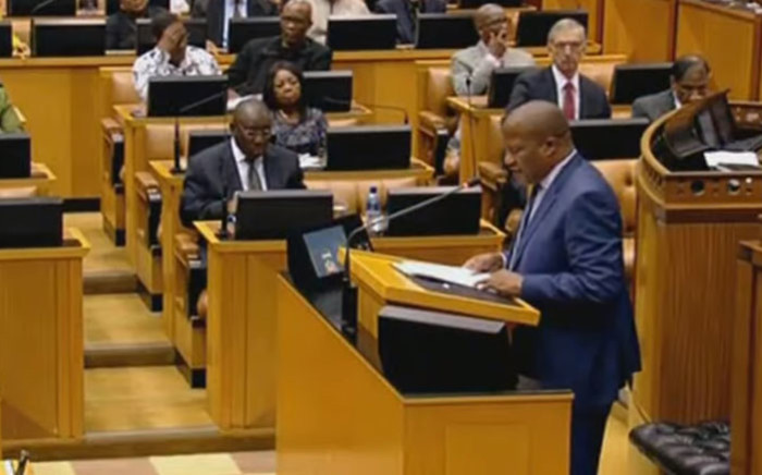 A screengrab of MPs debating the 2018 State of the Nation Address in Parliament.