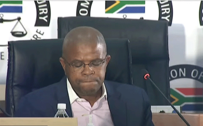 A screengrab of former Prasa CEO Lucky Montana appearing at the state capture inquiry on 16 April 2021. Picture: SABC/YouTube
