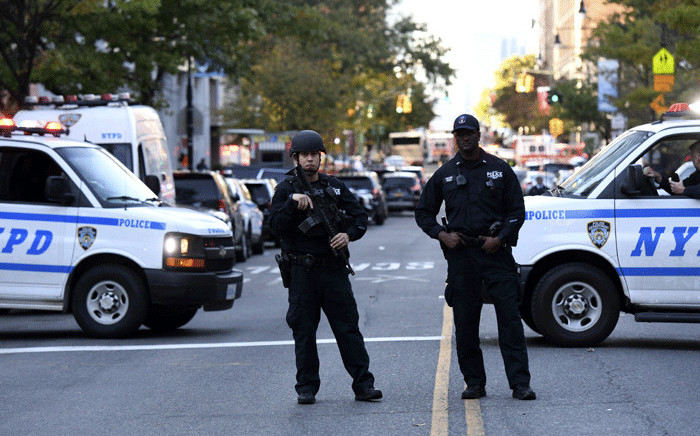 US police. Picture: AFP.