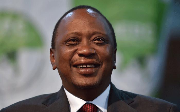 This file photo taken on 30 October 2017 shows Kenya's president Uhuru Kenyatta at the national tallying centre at Bomas of Kenya. Picture: AFP