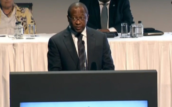 A screengrab of the IEC's chief electoral officer Sy Mamabolo giving an update on voter registration in Midrand, Johannesburg. Picture: YouTube.