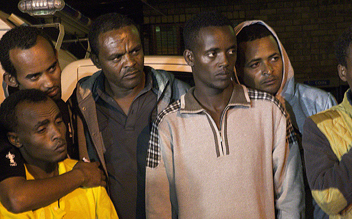 Defence Minister Nosiviwe Mapisa-Nqakula addressed a group of foreigners living in Alexandra on Tuesday following a couple of xenophobic attacks in the community. Picture: Reinart Toerien/EWN.
