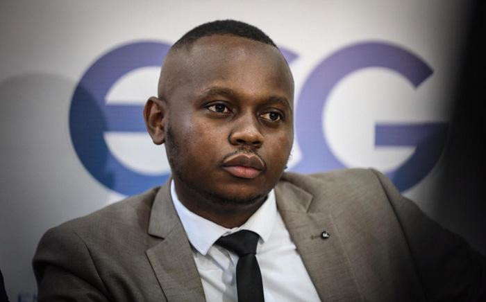 Maynard Manyowa, Sheperd Bushiri's spokesperson, in a press briefing providing an update on the investigation into the deaths that happened in ECG church. Picture: Abigail Javier/EWN.