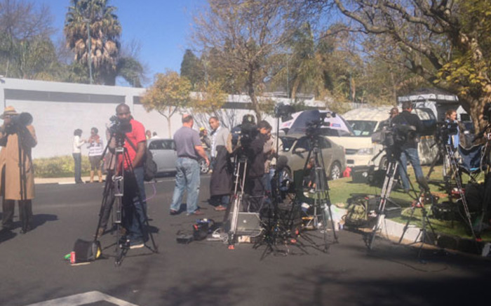 Media outside Nelson Mandela's Houghton home on 1 September 2013. Picture: Govan Whittles/EWN