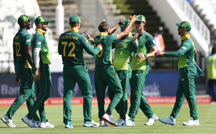 FILE: Members of the Proteas. Picture: Twitter @OfficialCSA.
