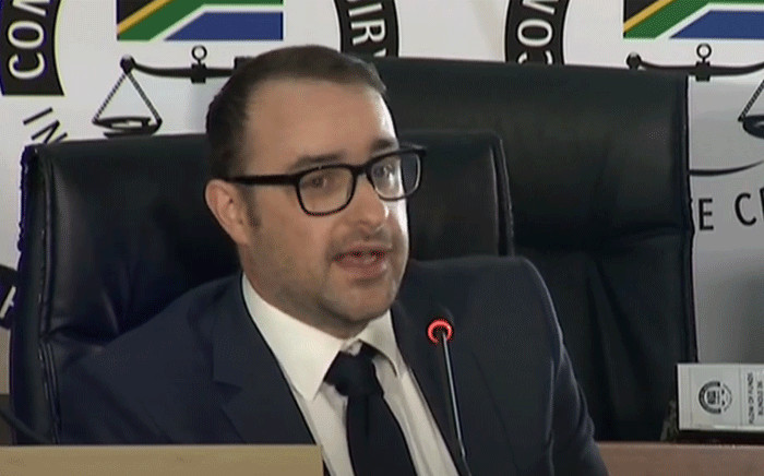 Paul Edward Holden at the state capture commission of inquiry on 3 December 2020. Picture: YouTube screengrab.