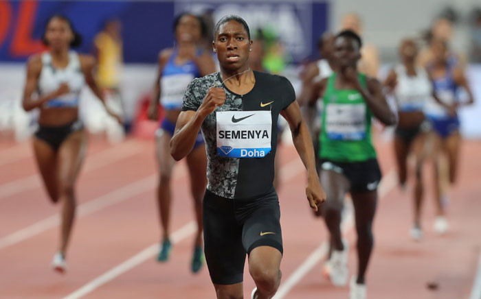 FILE: Caster Semenya competes in the women's 800m during the IAAF Diamond League competition on 3 May 2019 in Doha. Picture: AFP