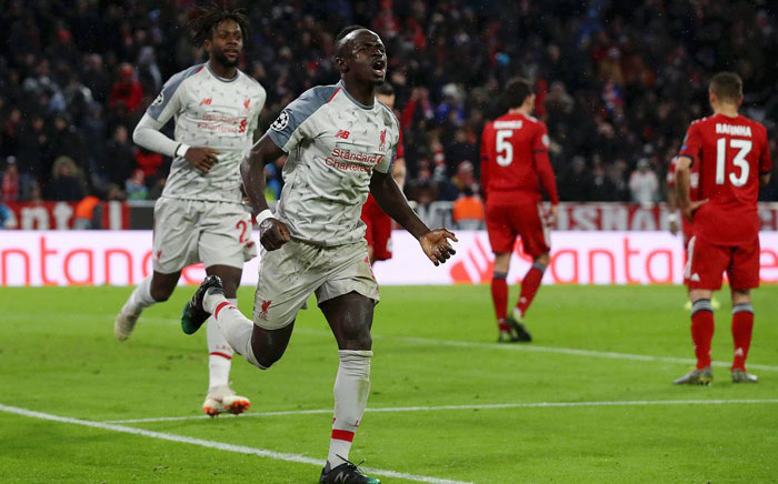 Liverpool's Sadio Mane celebrates his goal against Bayern Munich in their UEFA Champions League match on 13 March 2019. Picture: @LFC/Twitter