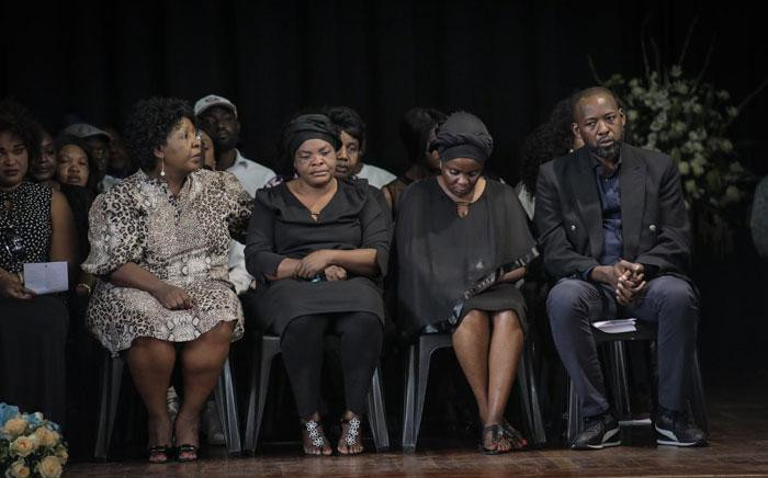 The Mpianzi family at Enock's memorial service at Parktown Boys' High on Tuesday, 28 January 2020. Picture: Abigail Javier/EWN