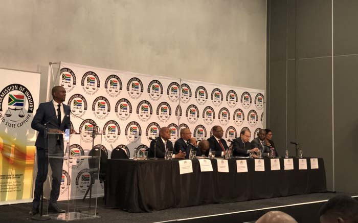 Deputy Chief Justice Raymond Zondo leading a media briefing on the progress made so far in his state capture inquiry. Picture: @SAgovnews/Twitter.