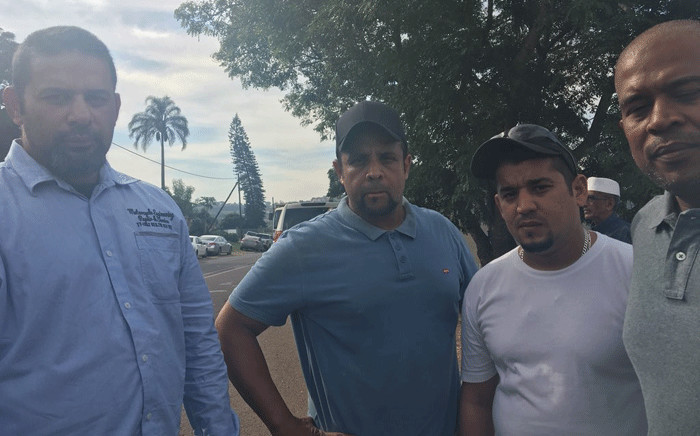 The brothers of Abbas Essop, the man who was killed in an attack on worshippers at a KZN mosque. Picture: Ziyanda Ngcobo/EWN.