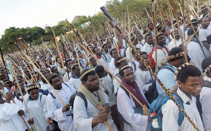 FILE: Close to 50,000 followers of the Nazareth Baptist Church, also known as the Shembe Church, leave their church in Ebuhleni, 45km, north of Durban for their pilgrimage. Picture: AFP